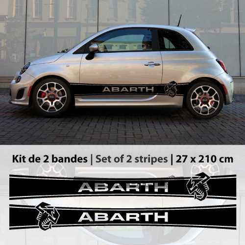 kit stickers bandes portes fiat abarth. Black Bedroom Furniture Sets. Home Design Ideas