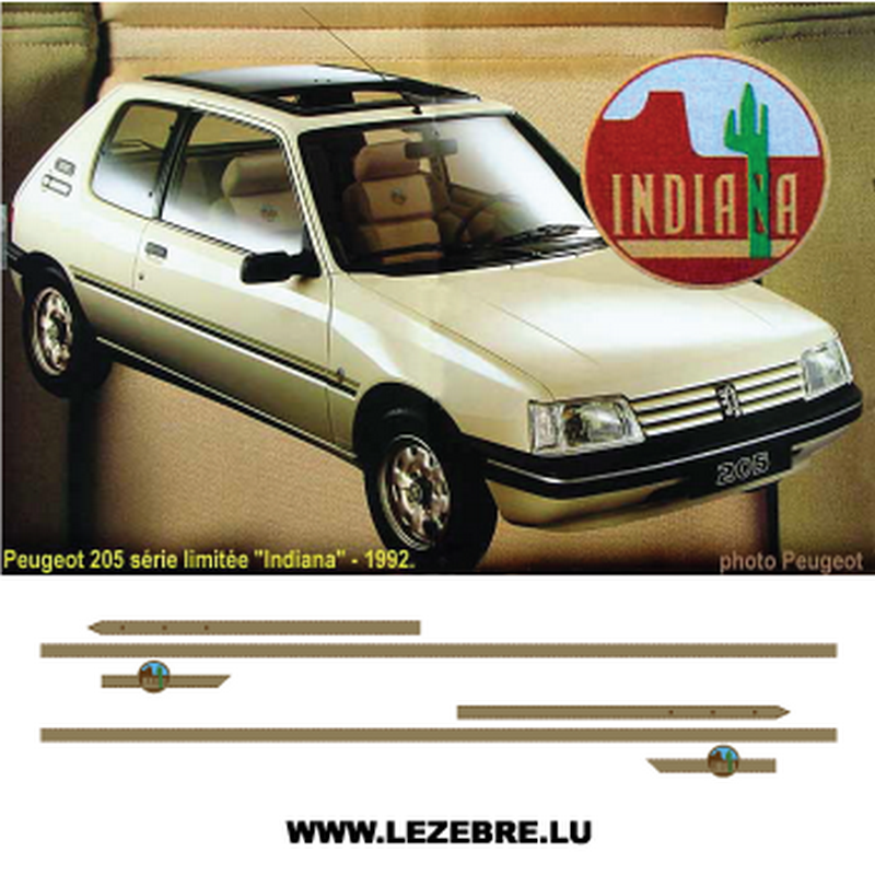 Kit Stickers Peugeot 205 Indiana