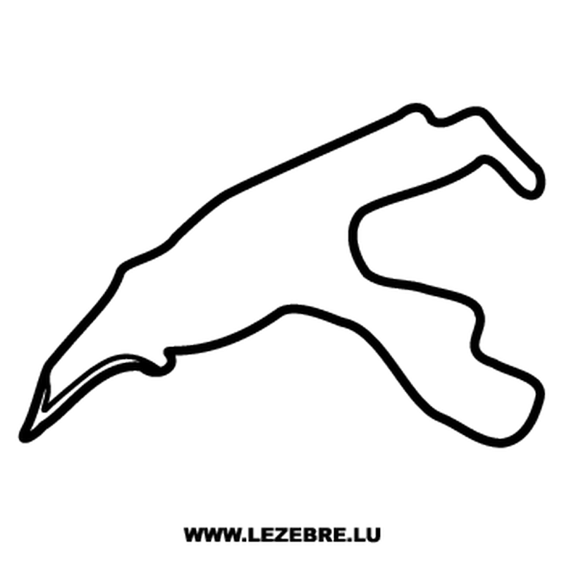 Spa-Francorchamps Belgium Circuit Decal