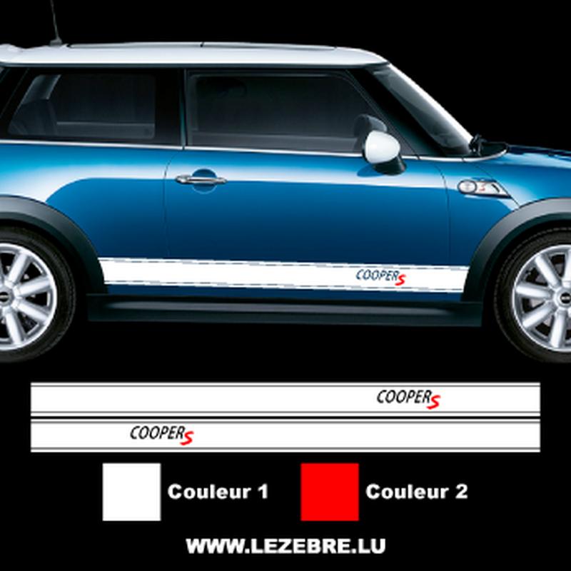 Mini Cooper S Side Stripes Decals Set