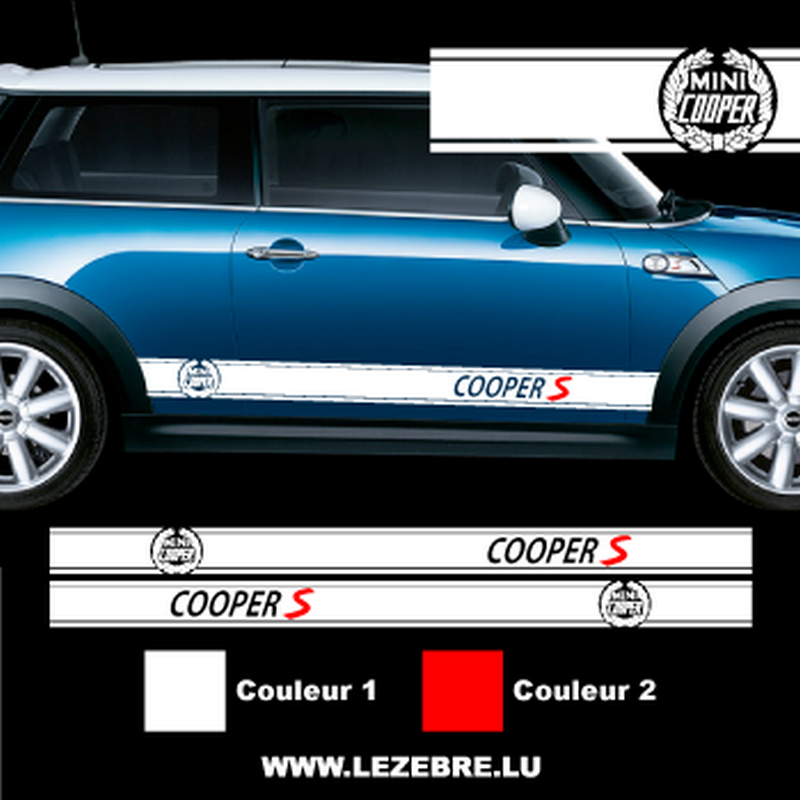 Sticker Bandes Laterales Mini Cooper S Laurier