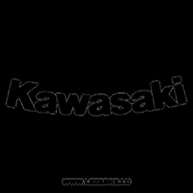 Kawasaki Curved Decal