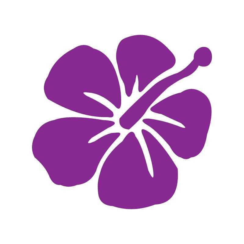 Sticker fleur HIBISCUS Déco a