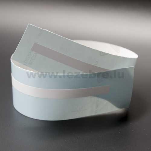 Sticker liseret Blanc mat