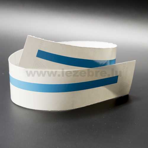 Sky blue rim sticker roll