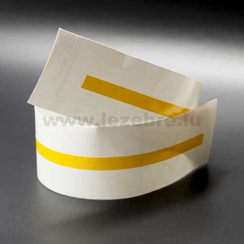Yellow rim sticker roll