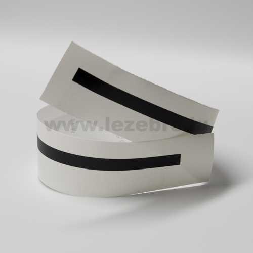 Matte black rim sticker roll
