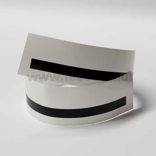 Gloss Black rim sticker roll