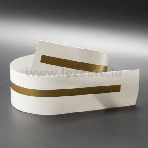 Gold rim sticker roll