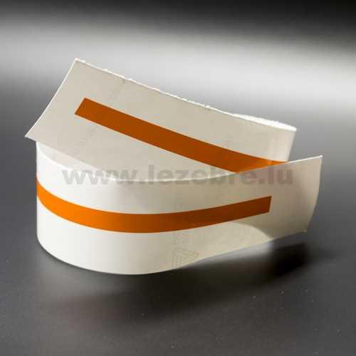 Orange rim sticker roll