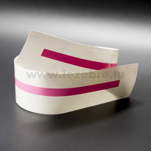 Pink rim sticker roll