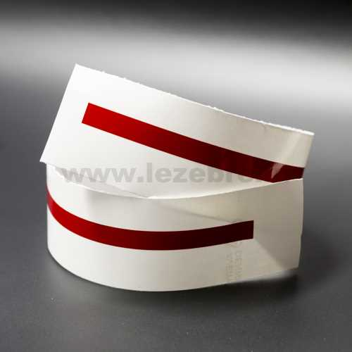 Red rim sticker roll