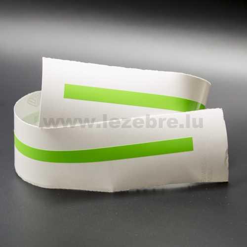 Lime green rim sticker roll