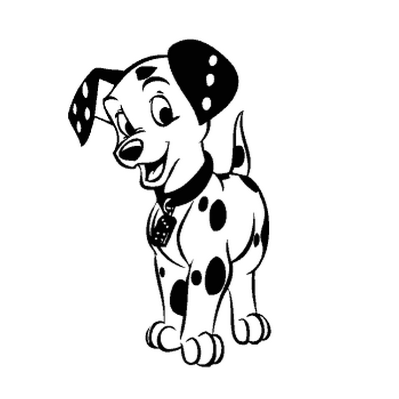 Beautiful Dalmatian Dog Decal