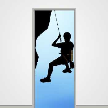 Mountain climber door decal