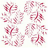 Fern Leaves Decal