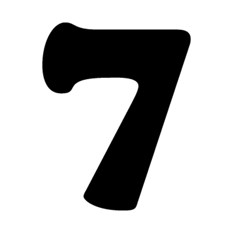 sticker numero 7 moto cross lot de 2 autocollants competition. Black Bedroom Furniture Sets. Home Design Ideas