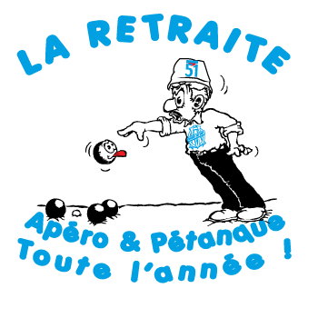 Tee shirt Retraite, Pastis, Pétanque, Foot