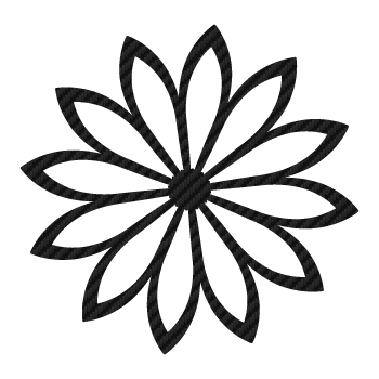 Decorative Flower Carbon Decal