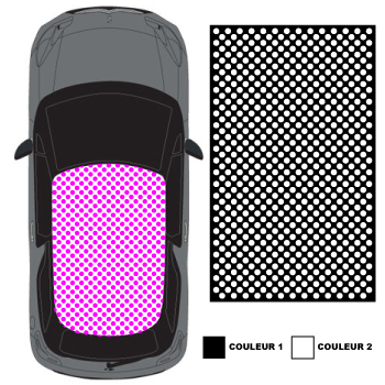 Car Roof Polka dot Decal  Total Covering