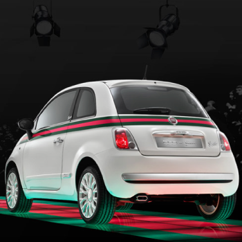 Fiat 500 Side Stripes Gucci Style Full Decal Set