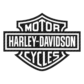 Harley Davidson Logo Carbon Decal