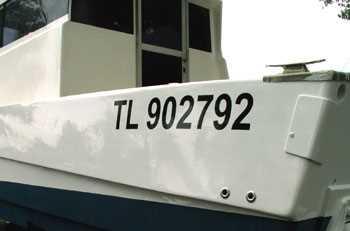 Bootsregistrierungs Aufkleber Kit