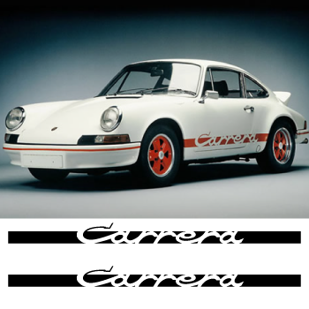 Porsche Carrera stripes decals set
