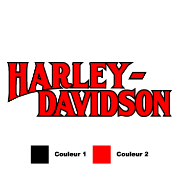 set of 2 harley davidson 1950 tank decals
