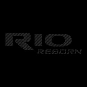 Kia Rio Reborn logo Carbon Decal