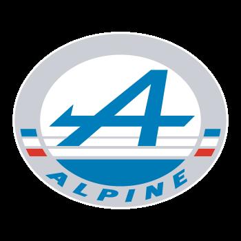 Alpine Automobile logo color Decal