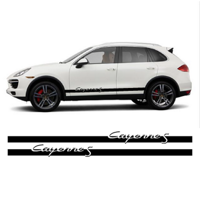 Porsche Cayenne S side stripes decals set