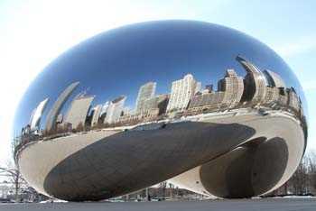 Sticker muraux groß Chicago Bean
