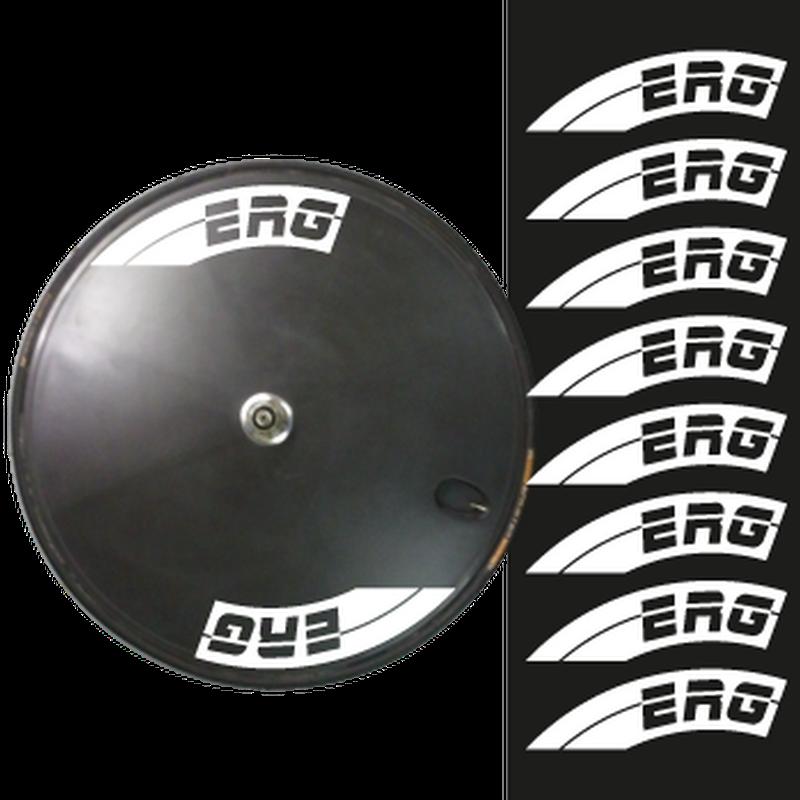 Set of 8 ERG Bike Wheels Decals 60mm