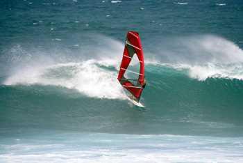 Sticker Déco Windsurf à Hawai