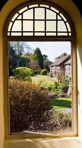 English Garden Through The Window Decoration Decal