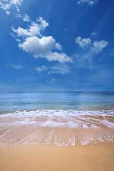 Sticker Deko Sable plage et Blauer Himmel