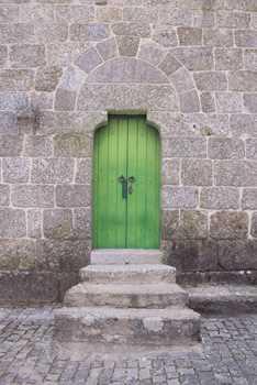 Sticker Déco Trappe Porte Église