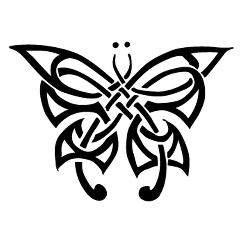Sticker mini tribal papillon - Tribal papillon ...