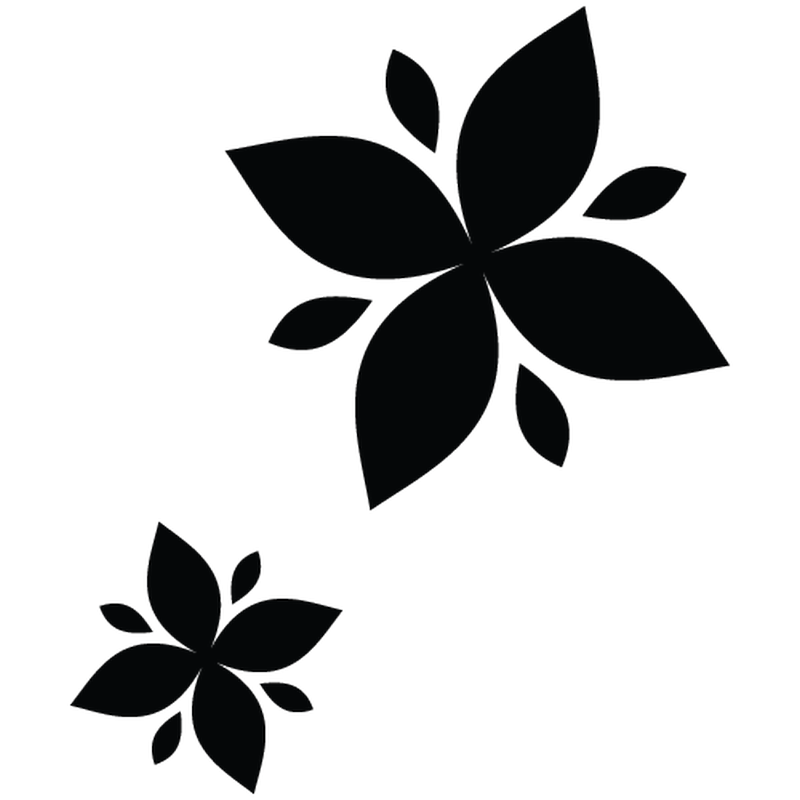 Flower decoration decal model 01
