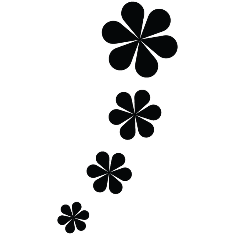 Flower decoration decal model 02