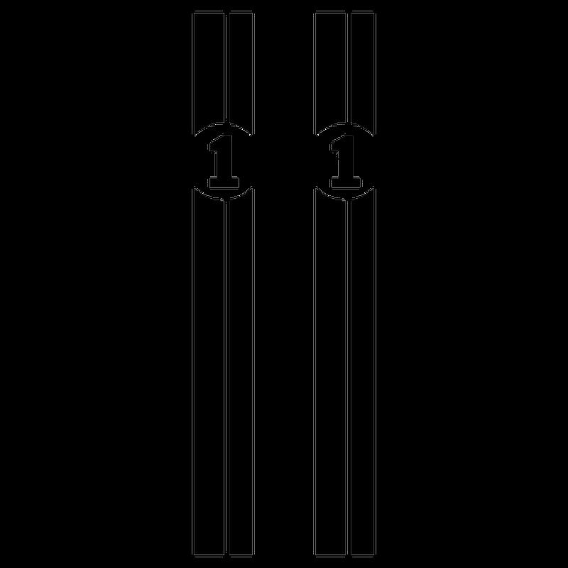 Number Car stripe decoration decal model