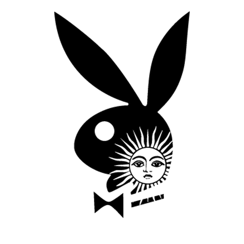 Argentine Playboy Bunny Mini Decal