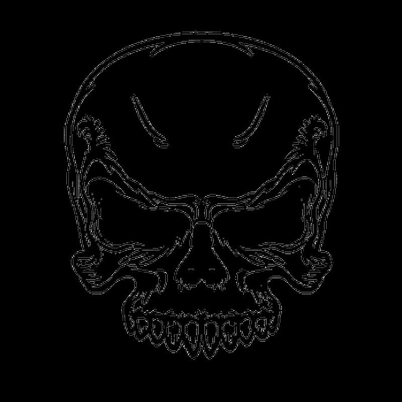 EMO Skull Mini Decal