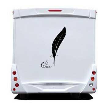 Sticker Wohnwagen/Wohnmobil Plume écriture calligraphique