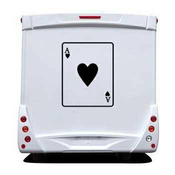 Ace of Hearts Camping Car Decal