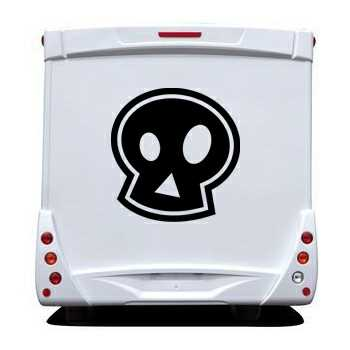 Emo skull Camping Car Decal
