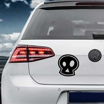 Emo skull Volkswagen MK Golf Decal