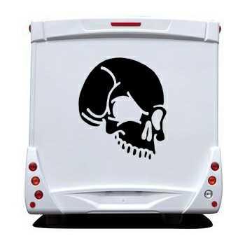 Sticker Camping Car Tête de Mort 11