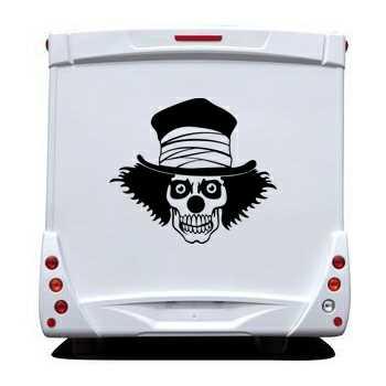 Clown Skull Camping Car Decal